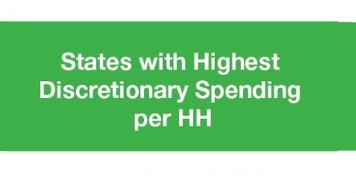 Discretionary Spending:  Which States Have the Highest Spenders?