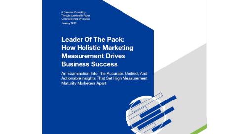 Marketing Measurement Drives Business Success - Forrester Report