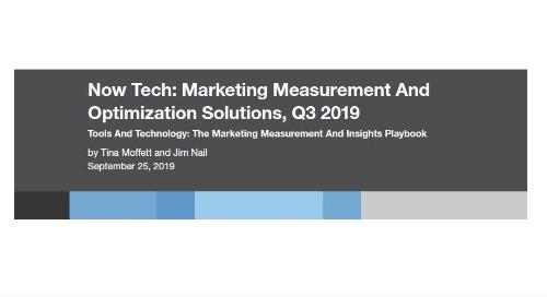 Now Tech: Marketing Measurement - Forrester Report