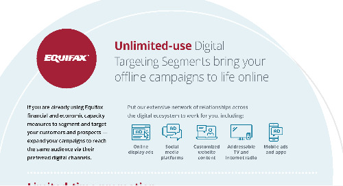 Unlimited-use Digital targeting Segments bring your offline campaigns to life online