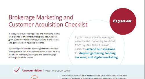 Brokerage Marketing and Customer Acquisition Checklist