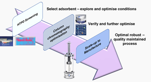 Screening for chromatography adsorbent selection and optimisation for downstream processing of biopharmaceuticals