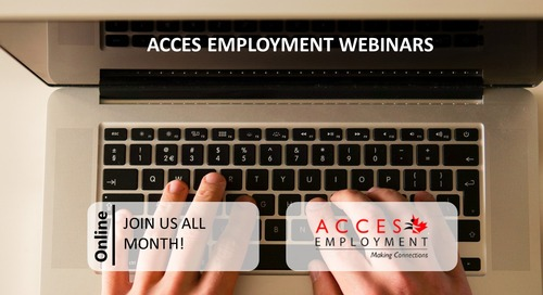ACCES April Webinar Series