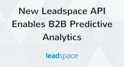 New Leadspace API Enables B2B Predictive Analytics
