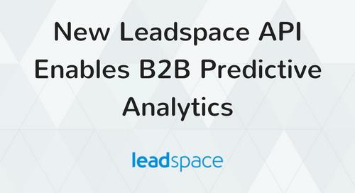 New Leadspace API Enables B2B Predictive Analytics