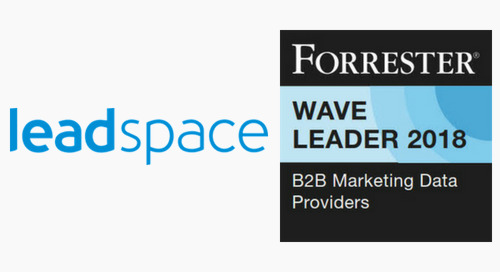 Leadspace Recognized as a Leader among B2B Marketing Data Providers, as Industry Moves Towards Comprehensive Data Platforms