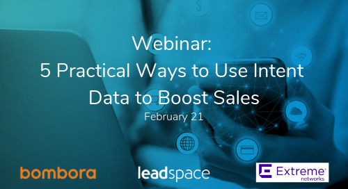 Webinar: 5 Practical Ways to Use Intent Data to Boost Sales