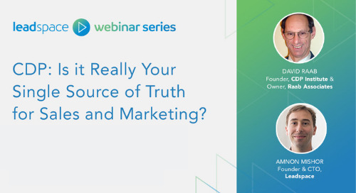CDP: Is it Really Your Single Source of Truth for Sales and Marketing?