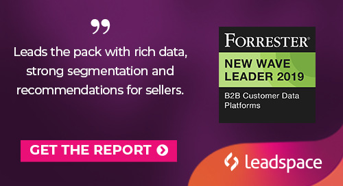Leadspace Recognized as a Leader in Emerging B2B Customer Data Platform Category
