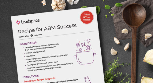 Your Recipe for ABM Success: Leadspace for Account-Based Marketing