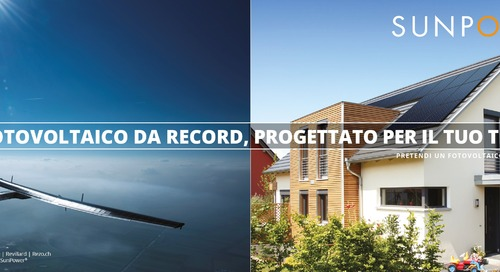 I pionieri ispirano la campagna SunPower Pretendi un Fotovoltaico Migliore®