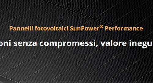 SunPower presenta i suoi nuovi pannelli SunPower Performance