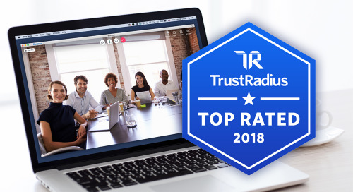 TrustRadius Recognizes BlueJeans with 2018 Top Rated Award