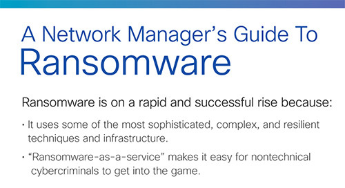 A Network Manager's Guide to Ransomware