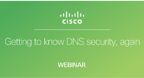 Getting to know DNS security, again