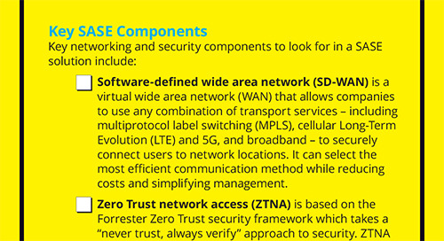 NEW: Secure Access Service Edge (SASE) For Dummies Checklist