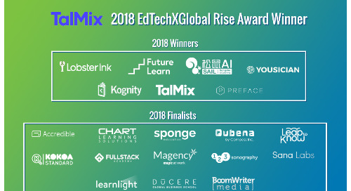 Talmix is a winner at the 2018 EdTechXGlobal All Stars Startup Awards
