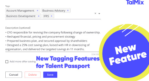 Talmix Launches New Tagging Features for Talent Passport