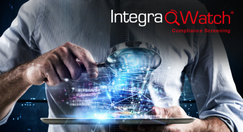 IntegraWatch® | Compliance Screening - Product Developments