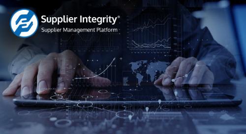 Supplier Integrity® | Supplier Management Platform - Product Developments