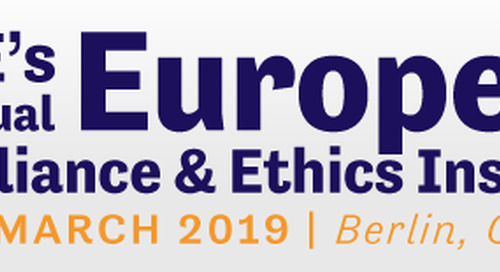 10 - 13 March 2019 - 7th Annual European Compliance & Ethics Institute