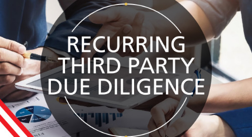 Recurring third party due diligence