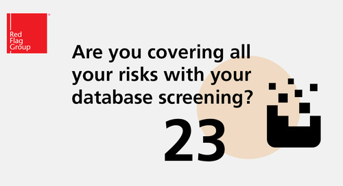 Are you covering all your risks with your database screening?