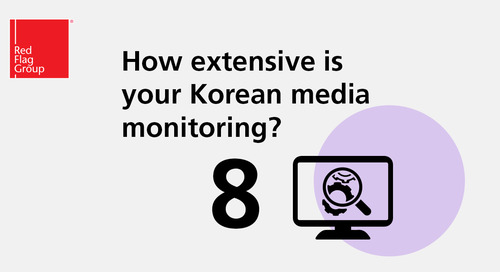 How extensive is your Korean media monitoring?