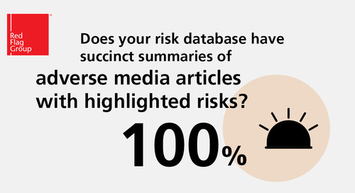 Does your risk database have succinct summaries of adverse media articles with highlighted risks?