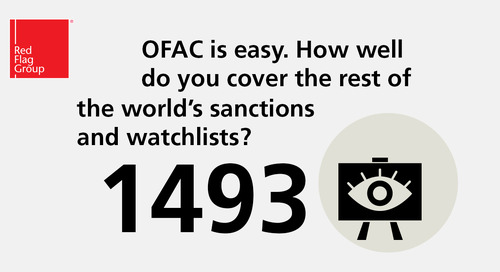 OFAC is easy. How well do you cover the rest of the world's sanctions and watchlists?