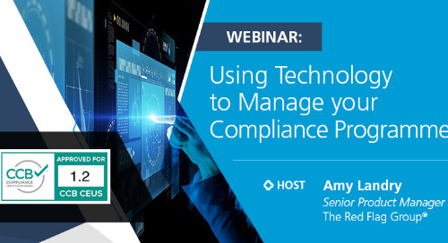 Webinar: Using technology to manage your compliance programme