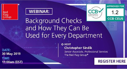 Webinar: Beyond Compliance - Background checks and how they can be used for every department