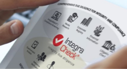 IntegraCheck® | Integrity Due Diligence - Product Developments