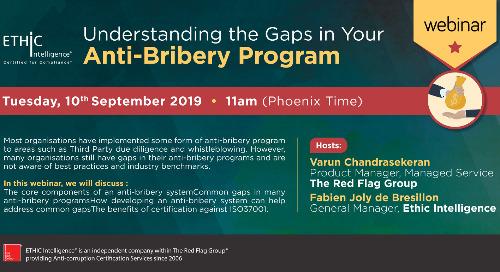 Webinar: Understanding the gaps in your anti-bribery programme