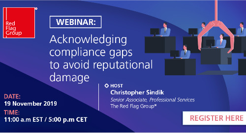 Webinar: Acknowledging compliance gaps to avoid reputational damage