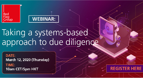 Webinar: Taking a systems-based approach to due diligence (CET/HKT)