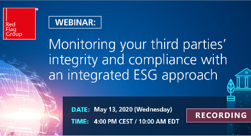 Webinar: Monitoring your third parties' integrity and compliance with an integrated ESG approach