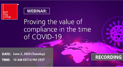 Webinar: Proving the value of compliance in the time of COVID-19