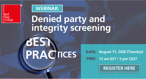 Webinar: Denied party and integrity screening best practices