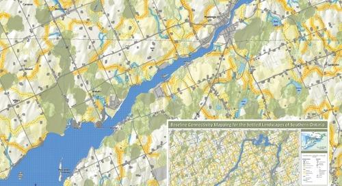Cartographie des liens de base entre les milieux habités du sud de l'Ontario