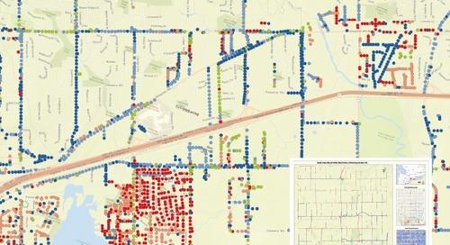 Carte d'indice de santé des poteaux de bois de services publics à Pickering et à Ajax (Ontario)