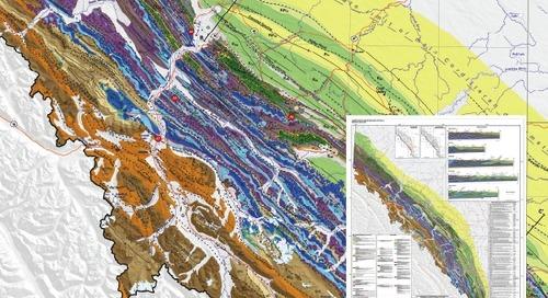 Géologie des montagnes Rocheuses et des contreforts en Alberta