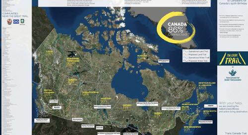 Carte du Sentier Transcanadien