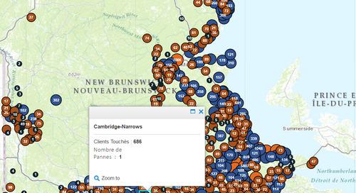 Application du mois de février: la carte des pannes d'Énergie NB