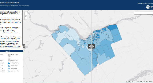 Application du mois d'octobre : La population d'Ottawa avance en âge