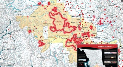 Saison des feux de forêt 2017 : une saison des incendies record dans la province de la C.-B.