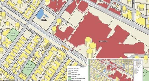 Vocation générale des bâtiments, centre-ville de Metrotown