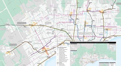 Carte de réseau du Plan de transport régional 2041