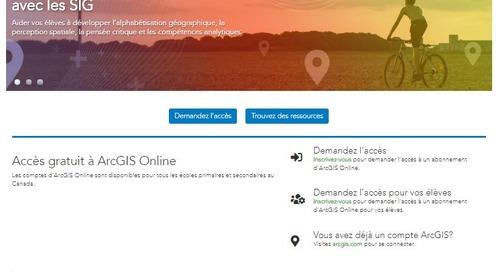 Site web d'Esri Canada pour le primaire et le secondaire : nouvelle décennie, nouvel aspect