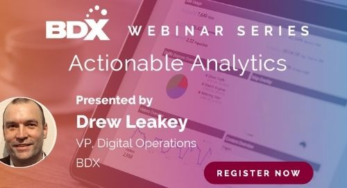 Webinar Series: Actionable Analytics